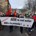 AESH dans la rue contre la «maltraitance de l'inclusion scolaire»