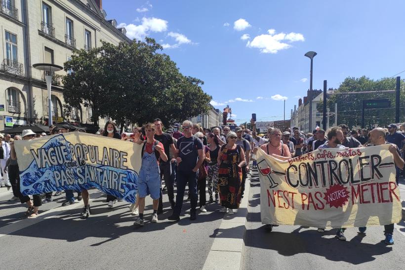 manifestation anti passe sanitaire nantes