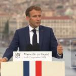 A Marseille, Emmanuel Macron n'aime pas trop les grèves, les profs et les pauvres