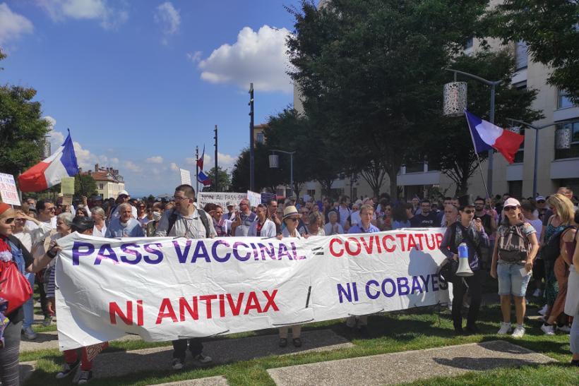 manifestation anti passe sanitaire lyon